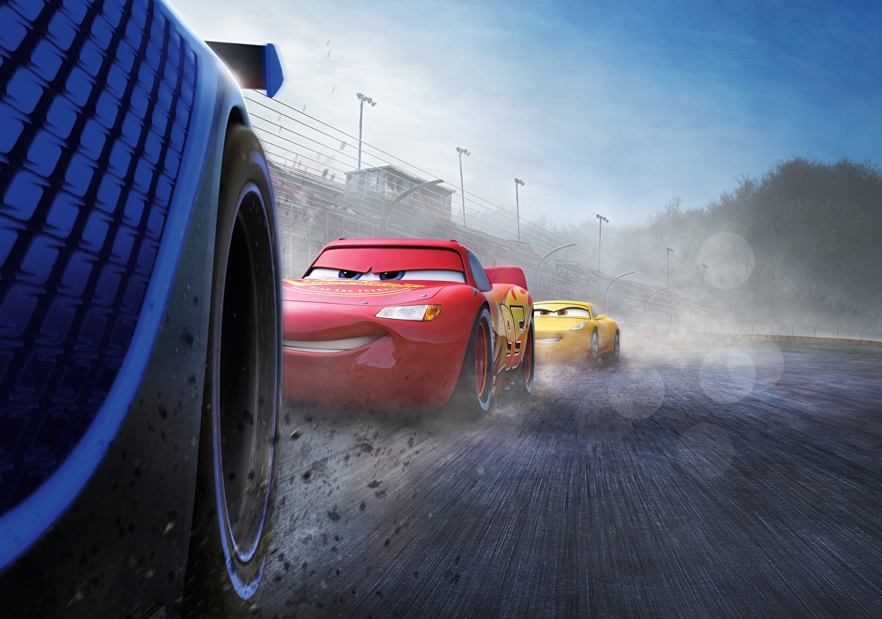Image Cars 3 Cartoons moving Motion riding driving at speed