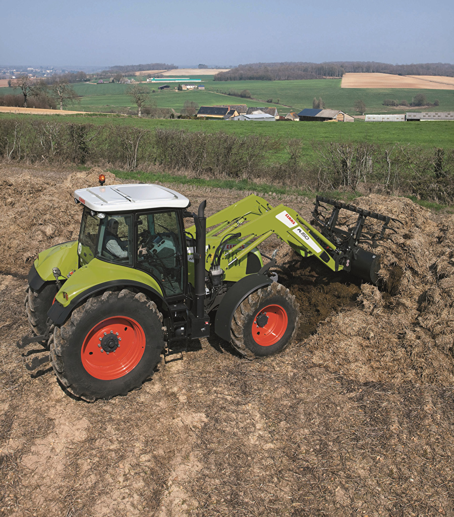 Photo Agricultural machinery front-end loader 2017 Claas Arion 600 Loader payloader front loader