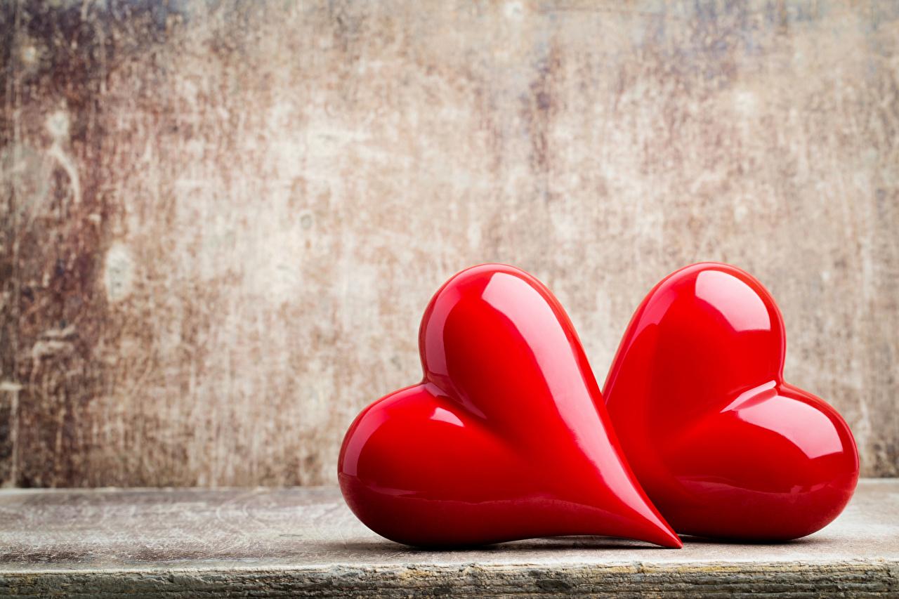 Dia dos Namorados Coração Dois Vermelho 2