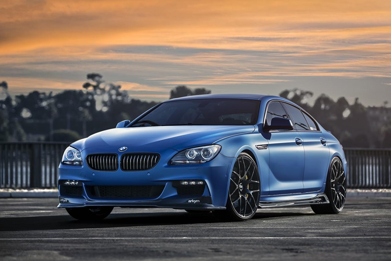 Fotos BMW Matte 640i Blau Autos