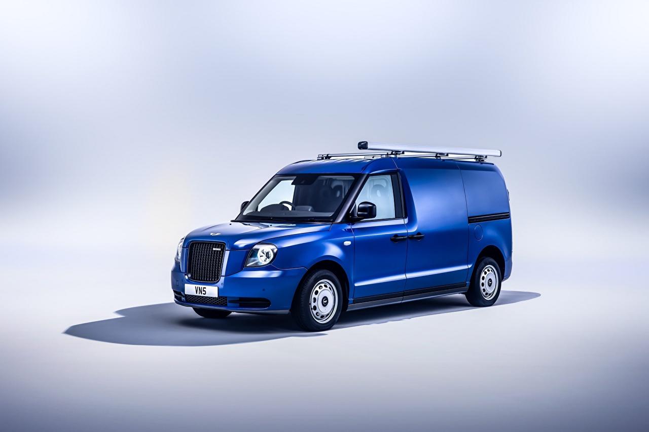 LEVC VN5, 2020 Azul Metálico Furgão carro, automóvel, automóveis, Van Carros