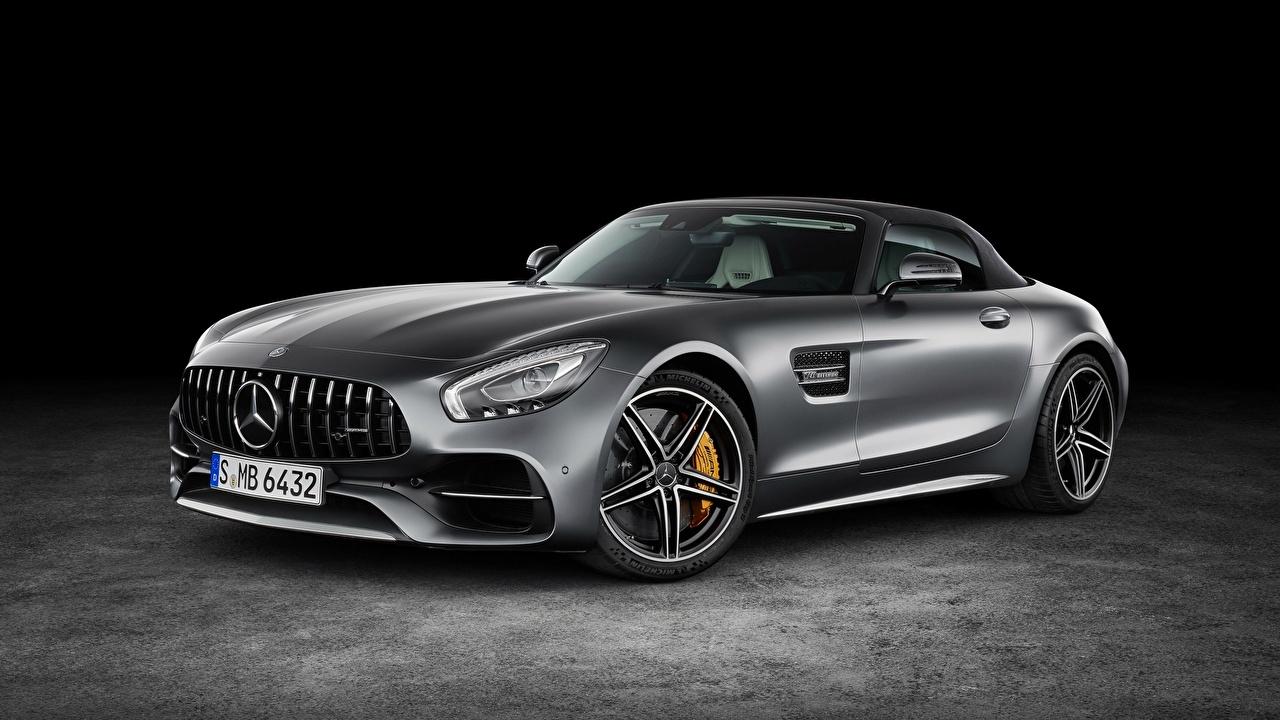 Fotos Mercedes-Benz AMG GT Grau auto Metallisch graue graues Autos automobil