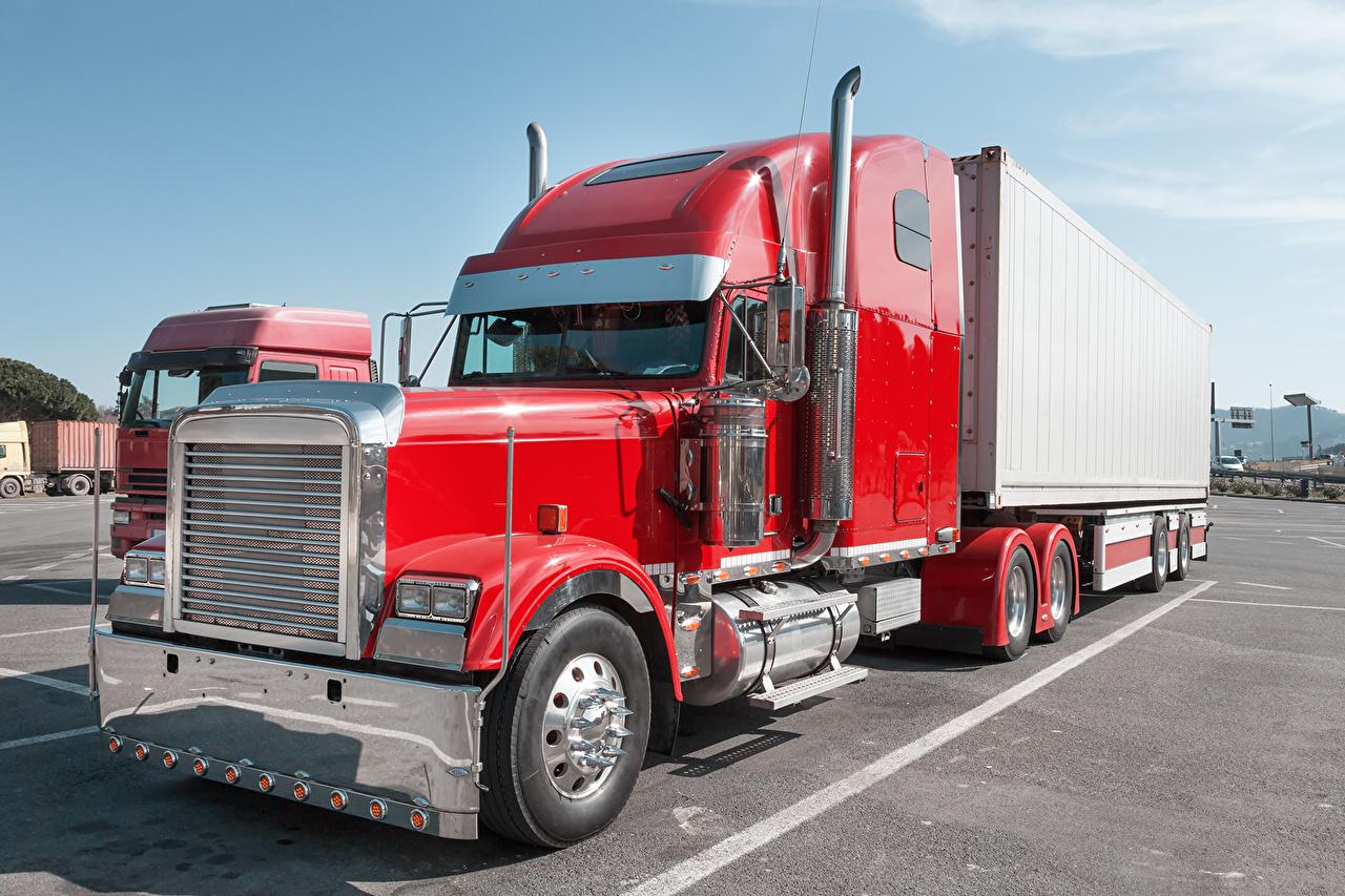 Picture lorry Peterbilt Red Cars Trucks auto automobile