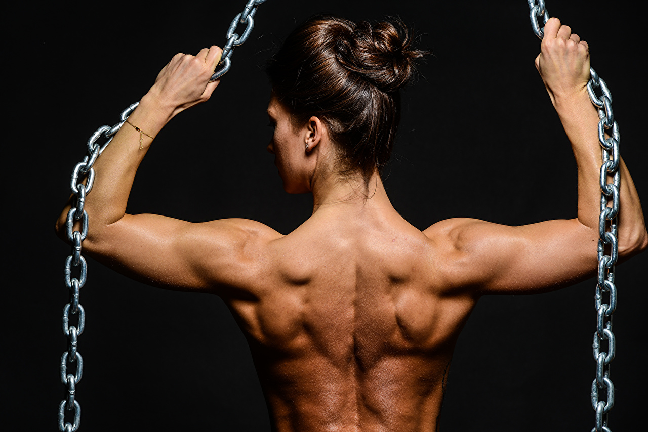 Pictures Muscle Human Back Girls Chain Bodybuilding