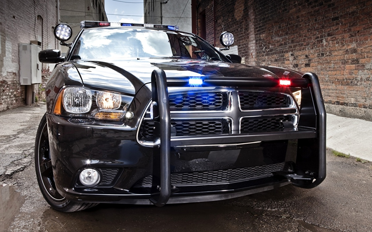 Picture Dodge Police charger pursuit Front Headlights automobile Cars auto