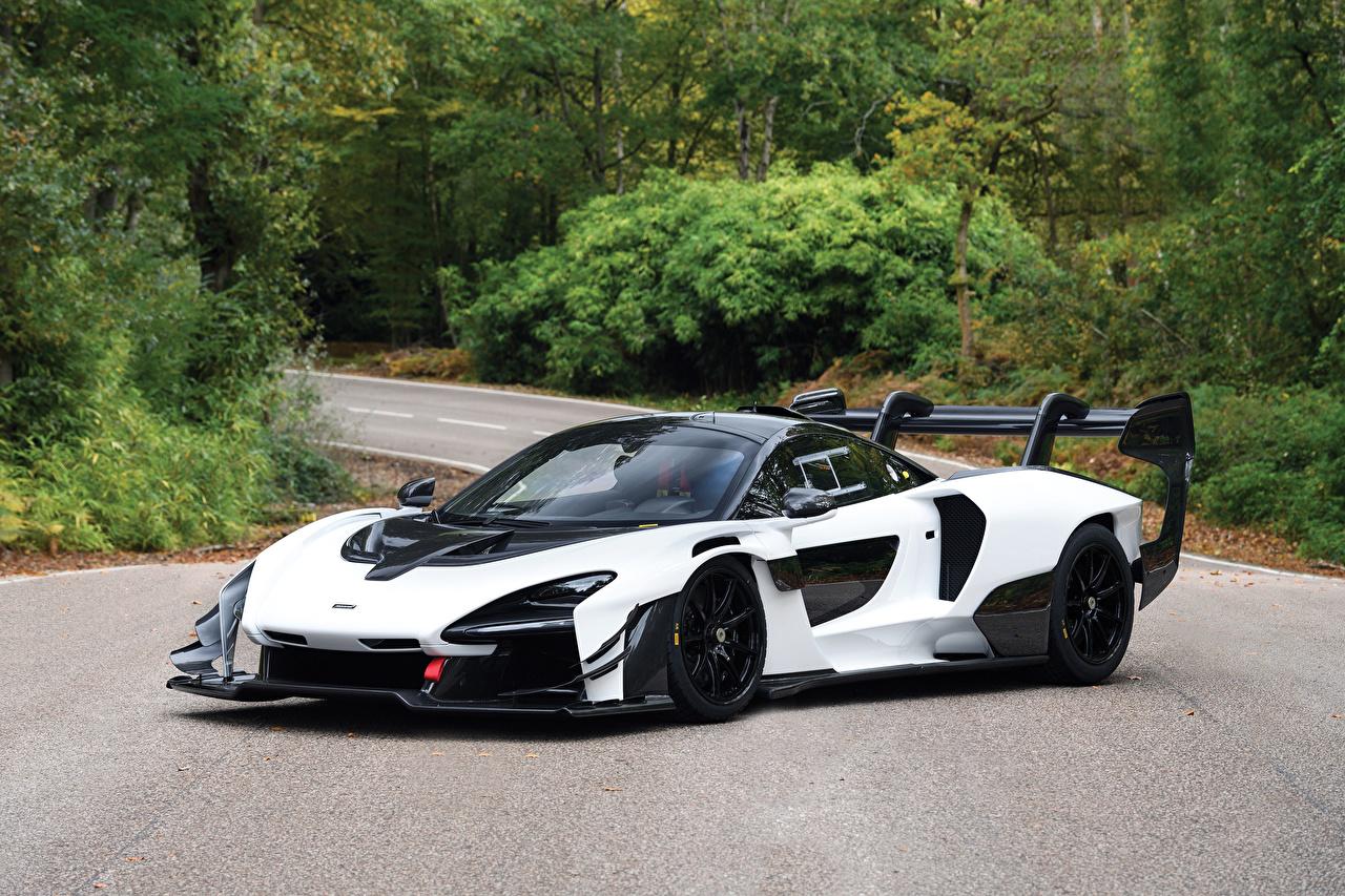 Desktop Wallpapers McLaren 2019-20 Senna GTR White automobile Cars auto
