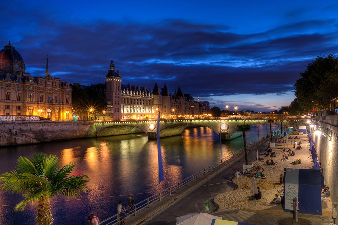 Picture Paris France Canal Bridges Cities bridge