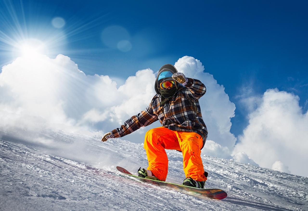 Fotos Mann Sport Winter Snowboard Schnee
