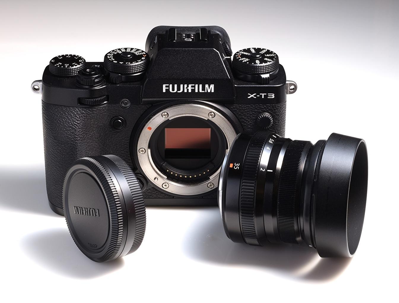 Fotos Objektiv Fotoapparat FUJIFILM, X-T3 Großansicht hautnah Nahaufnahme