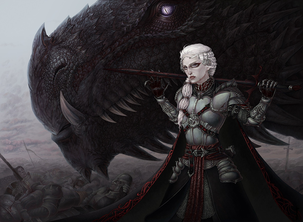Fotos Game of Thrones Drache Rüstung Krieger Fan ART Valar Morghulis, War of the Five Kings Film Fanart