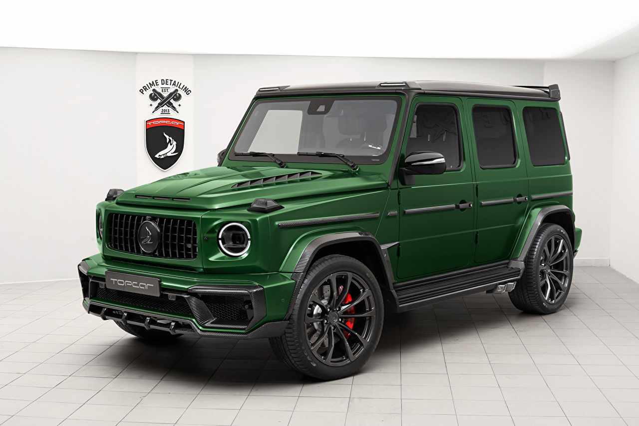Photos Mercedes-Benz Sport utility vehicle 2019 TopCar G-Klasse Inferno Green Cars SUV auto automobile