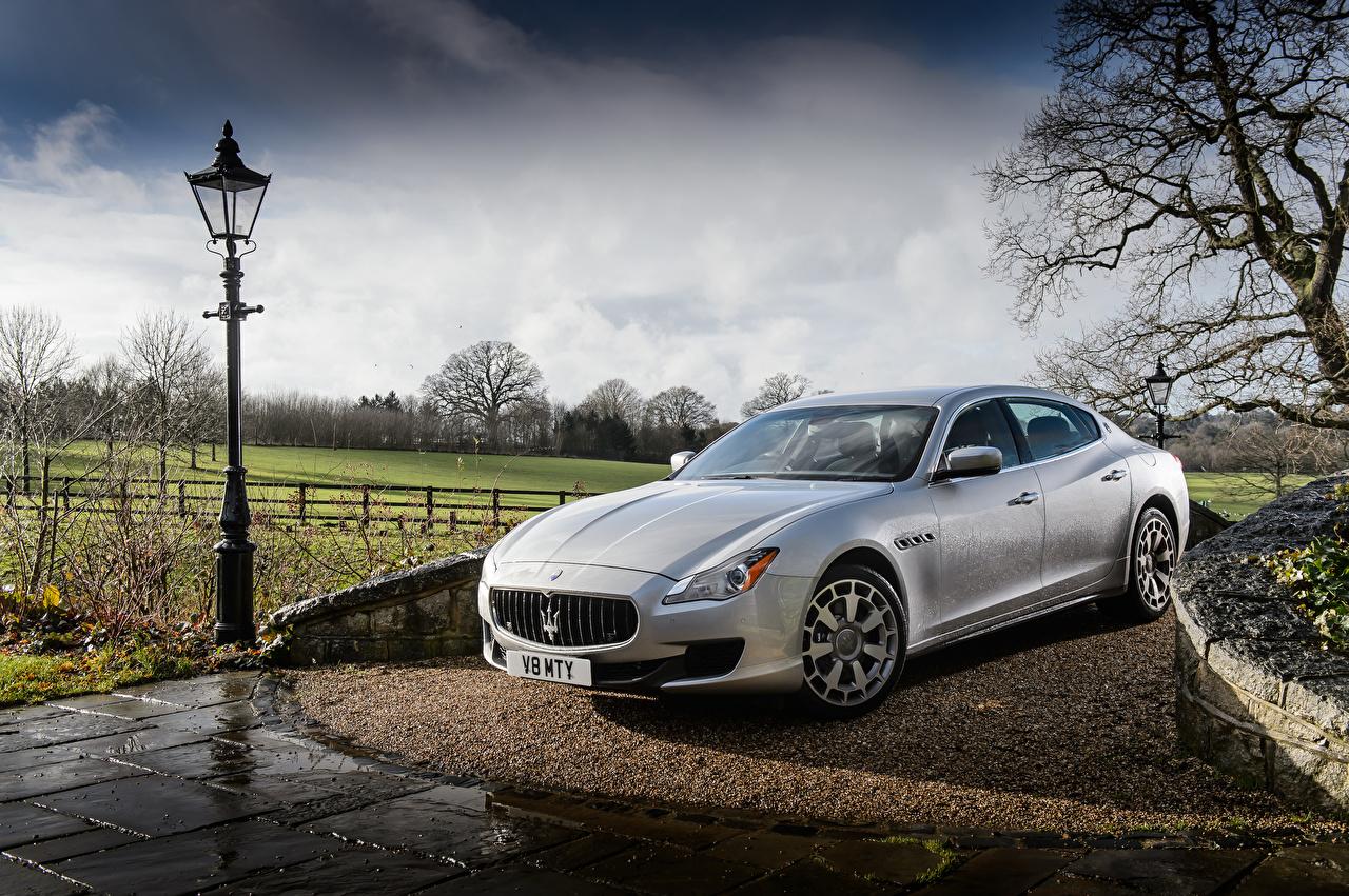 Picture Maserati 2013-16 Quattroporte S Silver color automobile Cars auto