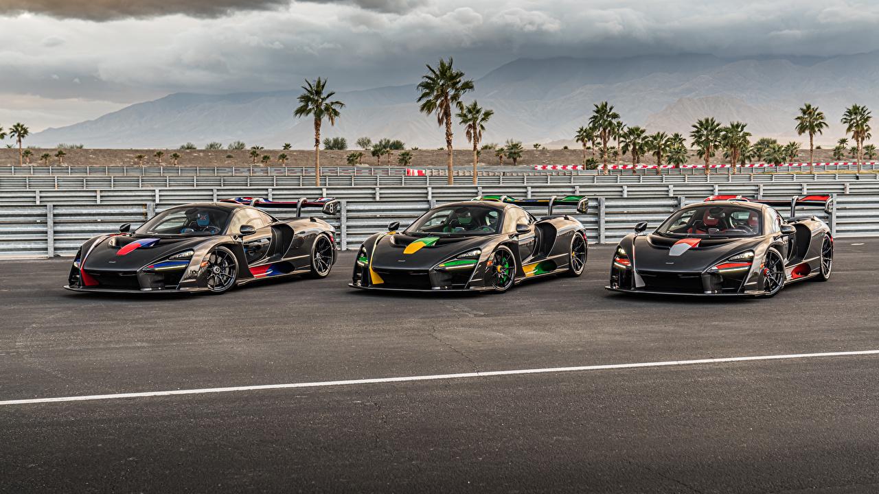 Foto Tuning McLaren 2018-20 Senna Nero Tre 3 macchina Metallizzato trio Auto macchine metallico automobile autovettura