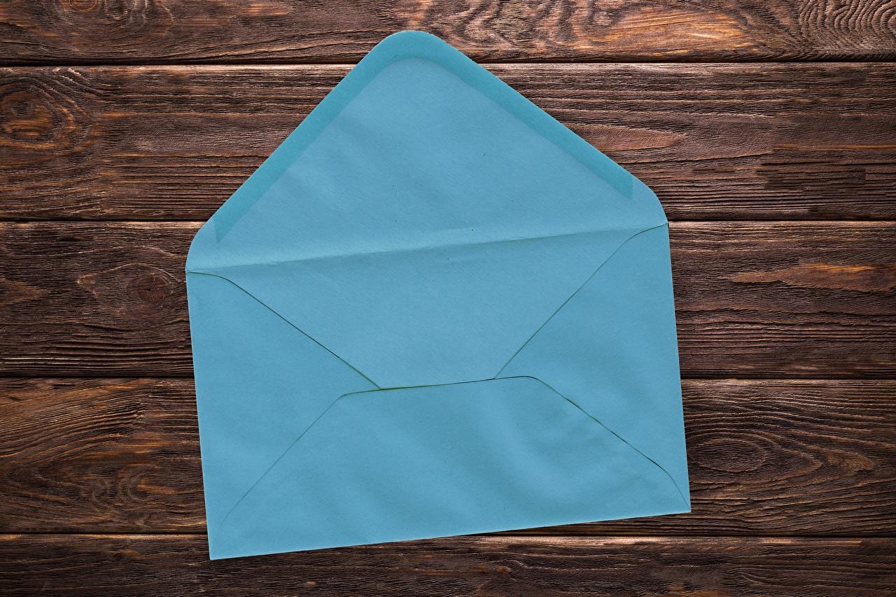 Fotos von Briefumschlag Hellblau Großansicht Bretter hautnah Nahaufnahme