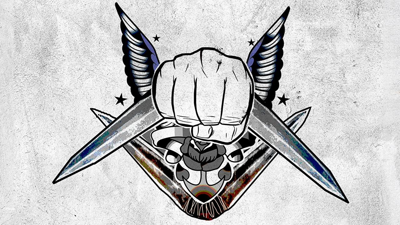 Fotos Suicide Squad 2016 Tätowierung Logo Emblem Captain Boomerang Film