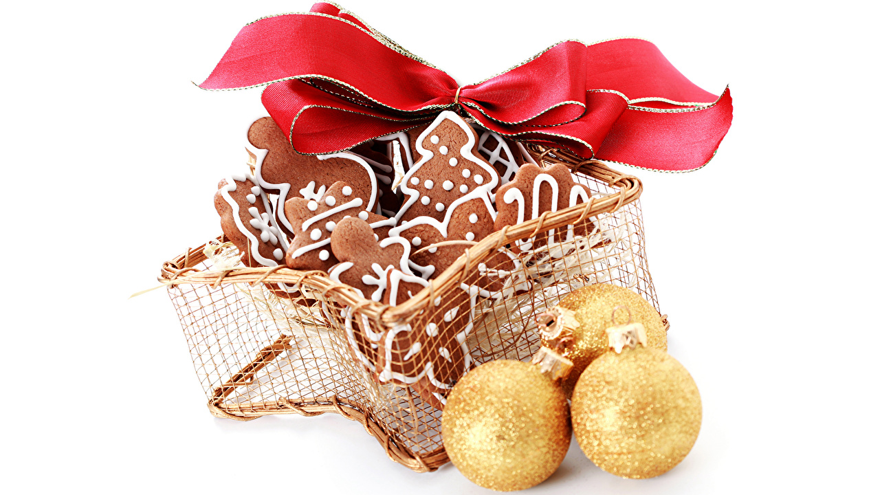 Picture Christmas Food Balls Cookies Bowknot Pastry New year bow knot baking