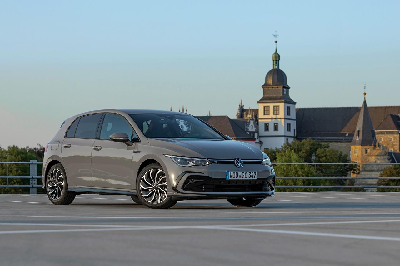 Bilder von Volkswagen Golf eTSI R-Line, 2020 graue Autos Metallisch Grau graues auto automobil