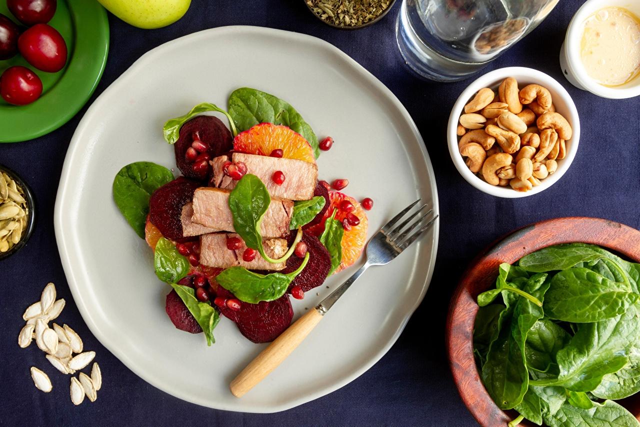 Tapeta burak zwyczajny talerzu Widelec żywność Produkty mięsne Buraczany Talerz widelce Jedzenie
