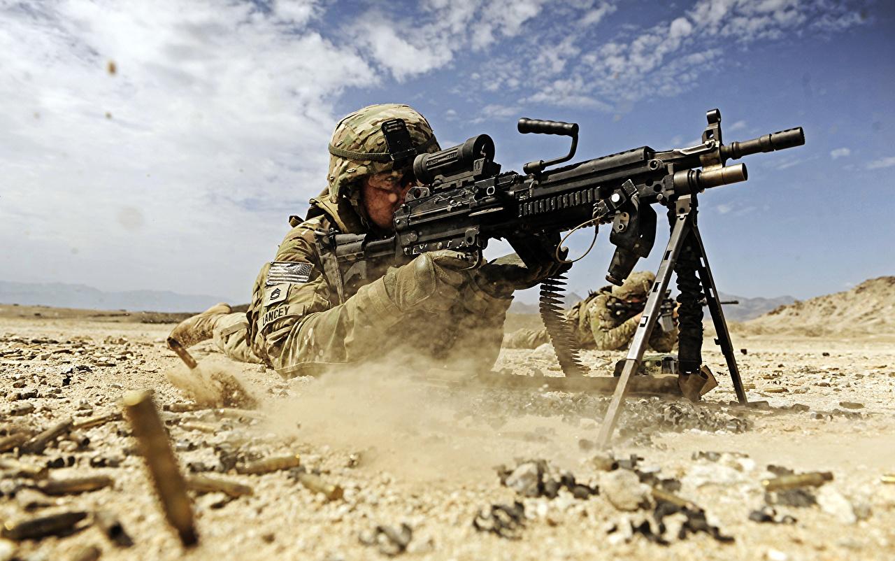 Bakgrundsbilder soldat amerika Maskingevär Himmel Militär USA Soldater kulspruta