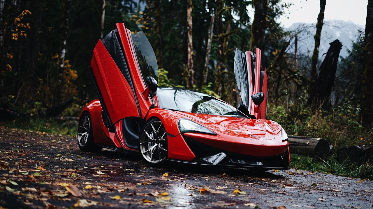 Image McLaren 570S 570S Red auto Metallic Cars automobile
