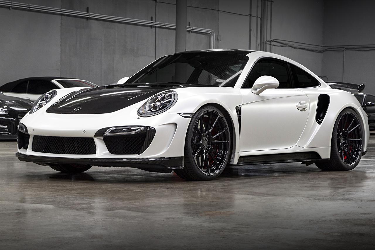 Wallpaper 2014 TopCar Porsche 911 Turbo Stinger GTR (991) White Cars auto automobile