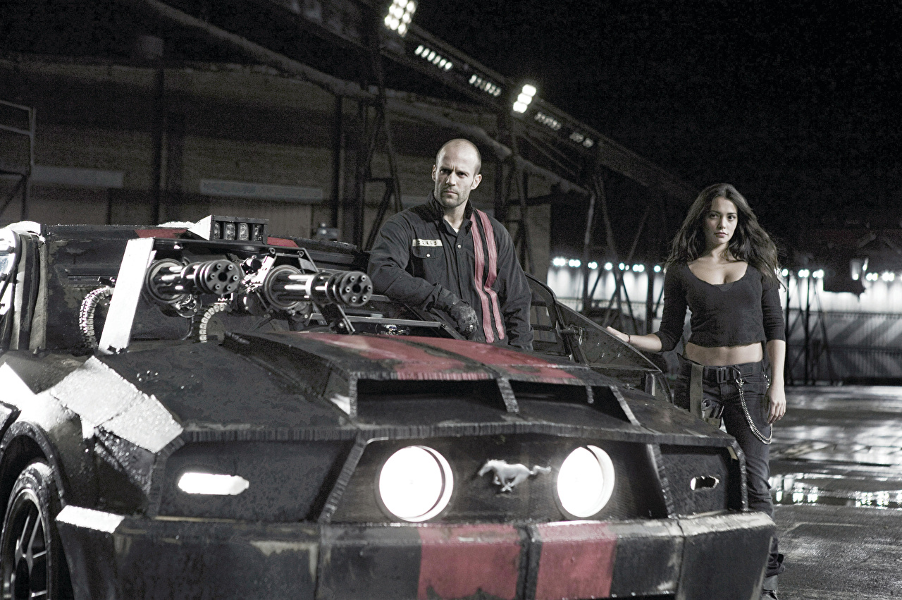 Photos Death Race Jason Statham Machine guns Man film Front Headlights automobile Men Movies Cars auto