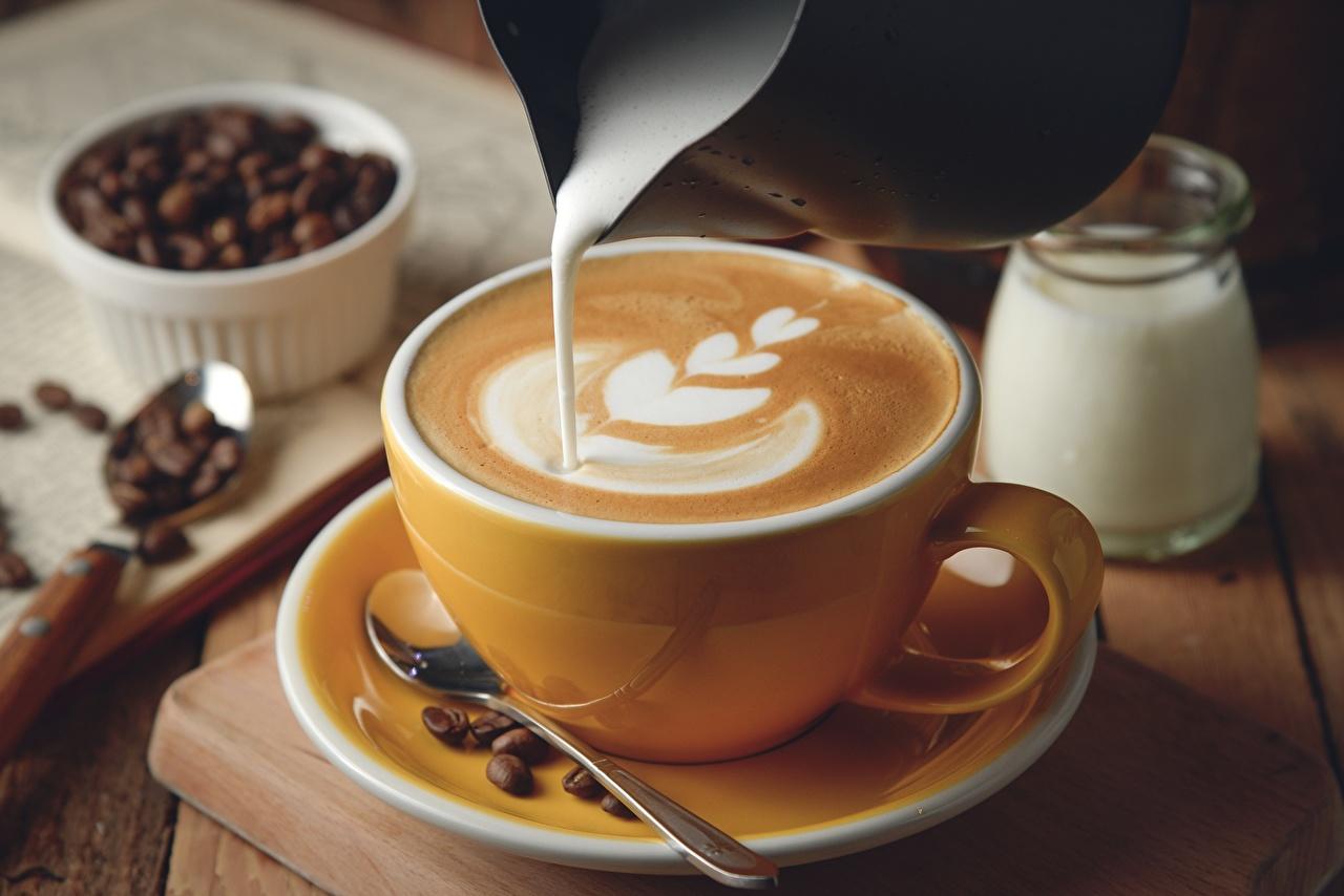 壁紙、コーヒー、カプチーノ、クリーム、ティーカップ、ソーサー、食品 ...