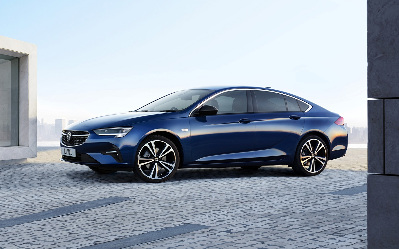 Bilder Opel 2020, Insignia .Grand Sport Limousine Blau Autos Seitlich Metallisch auto automobil