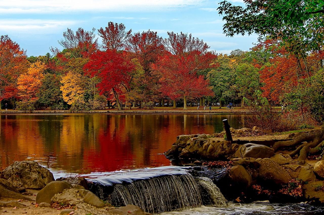 Desktop Hintergrundbilder New York City Usa Belmont Lake