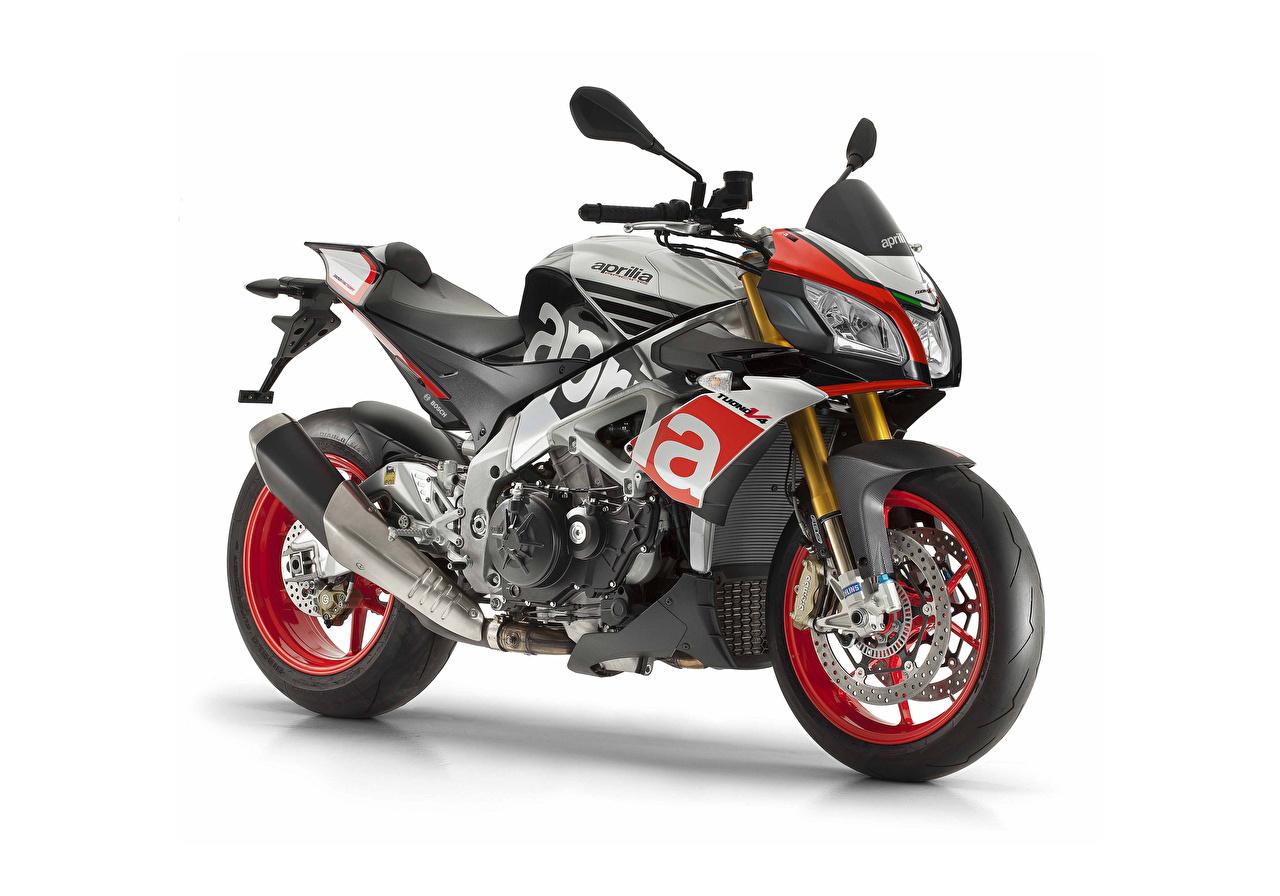 Bakgrunnsbilder til skrivebordet Tuning Aprilia 2015-18 Tuono V4 1100 Factory Motorsykler Hvit bakgrunn motorsykkel