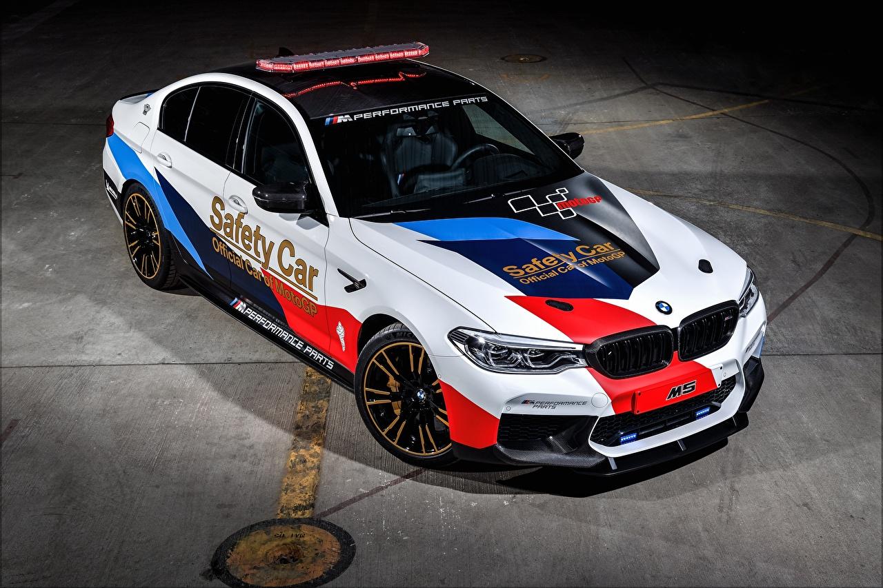 Desktop Wallpapers BMW Tuning 2018 M5 MotoGP Safety Car Cars auto automobile
