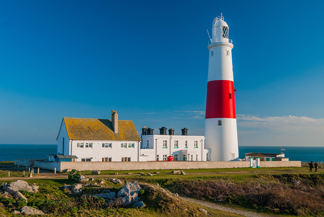 Foto England Portland Bill Lighthouse Natur Leuchtturm Haus Gebäude