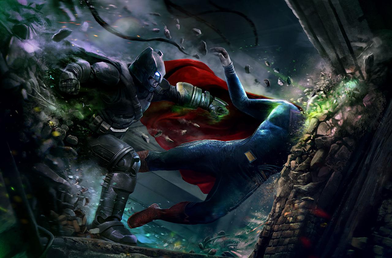 壁紙 コミックヒーロー バットマン スーパーマンのヒーロー 戦闘