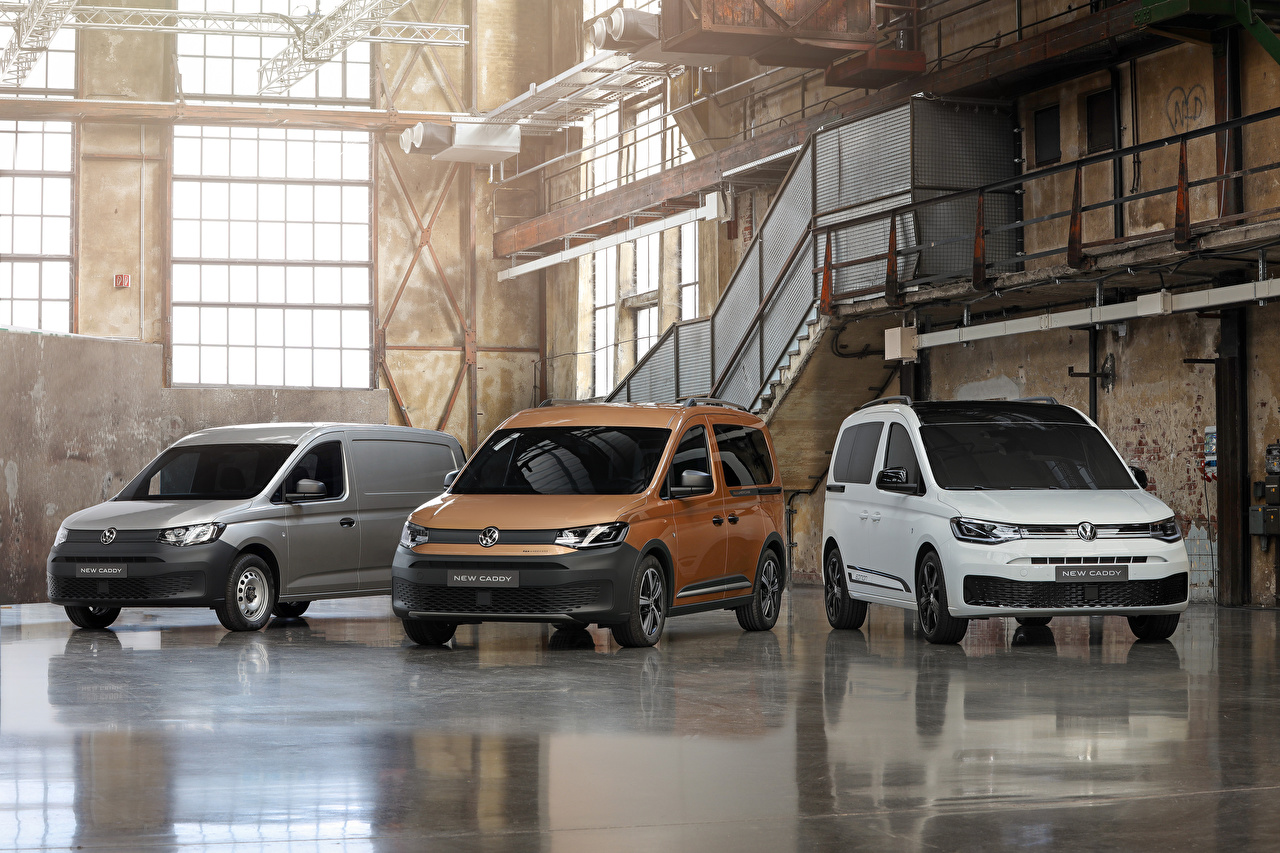 Foto Volkswagen 2020 Caddy MPV Tre 3 automobil Minibuss bil Bilar