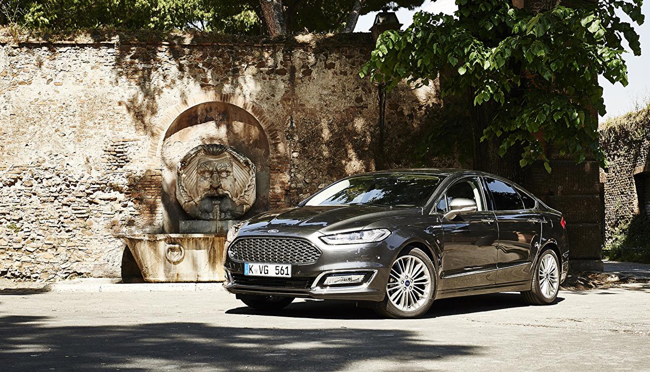 Picture Ford 2015 Vignale Mondeo Sedan Black automobile Cars auto