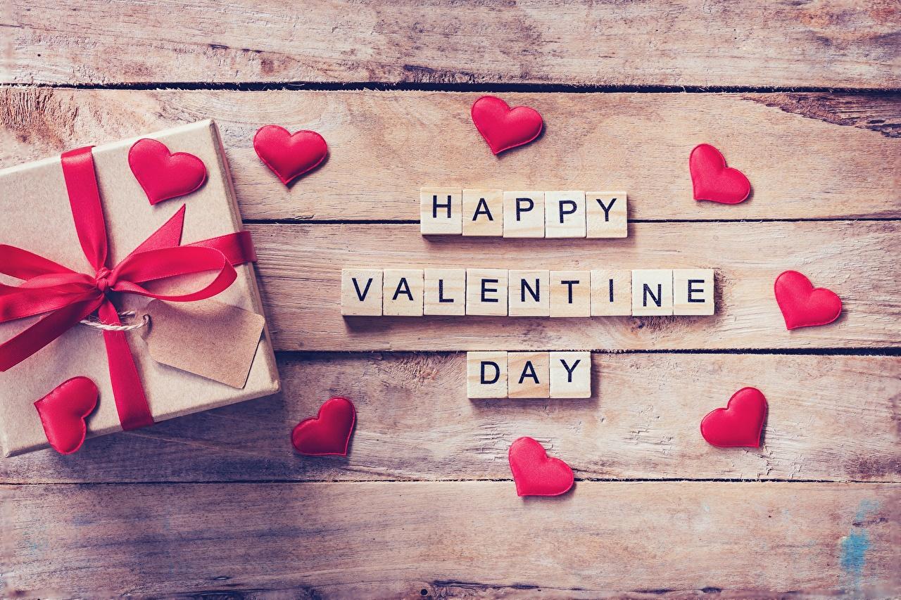 Dia dos Namorados Presentes Coração Tábuas de madeira Inglês