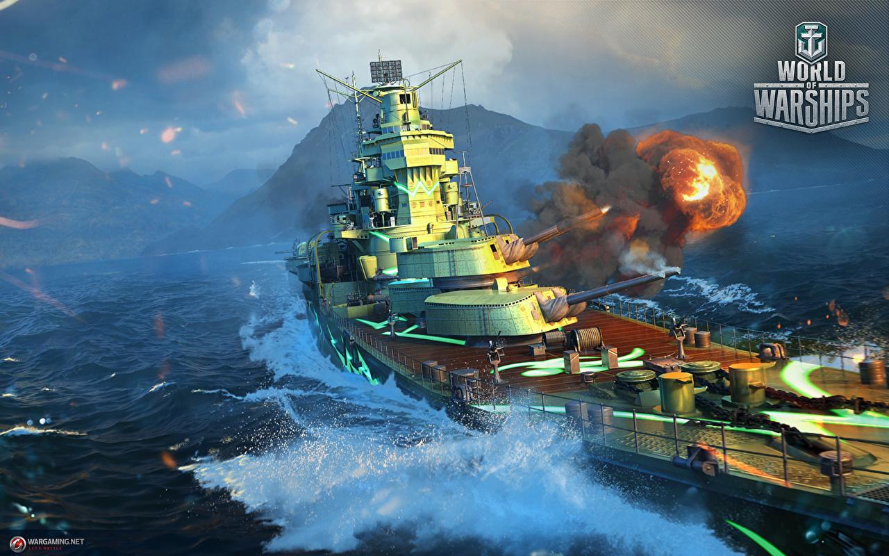Bilder World Of Warship Schuss Japanisch Cruiser ARP Takao Spiele Schiffe Militär japanische japanisches japanischer computerspiel Heer