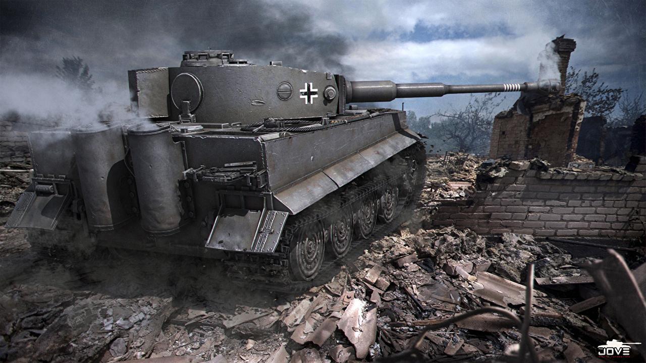 Fondos De Pantalla World Of Tanks Tanque Tiger I Juegos 3d