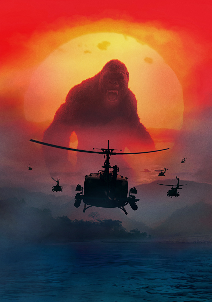 Picture Kong: Skull Island helicopter monkey Movies  for Mobile phone Helicopters Monkeys film