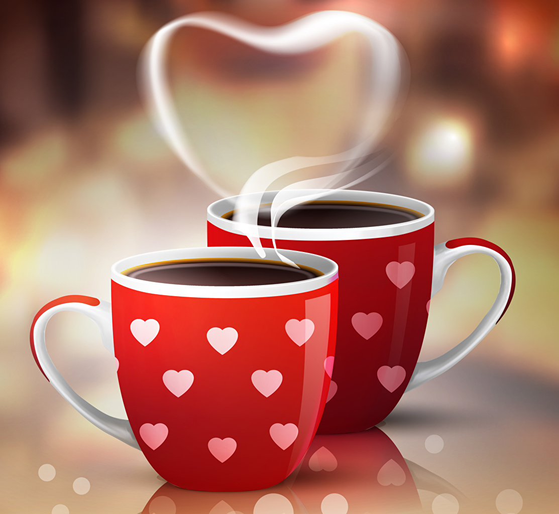 Images Valentine's Day Heart Two Coffee Cup Food