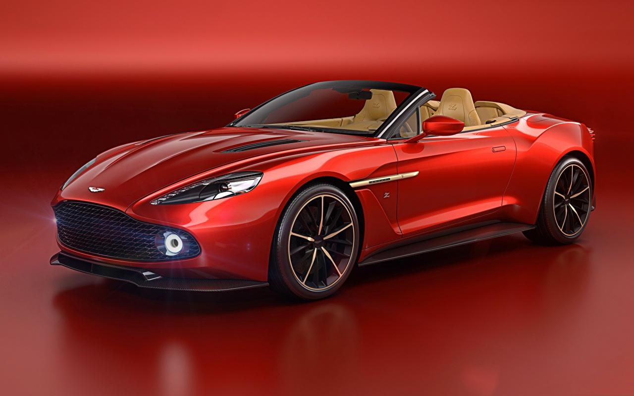 Picture Aston Martin Vanquish Convertible Red automobile Cabriolet Cars auto