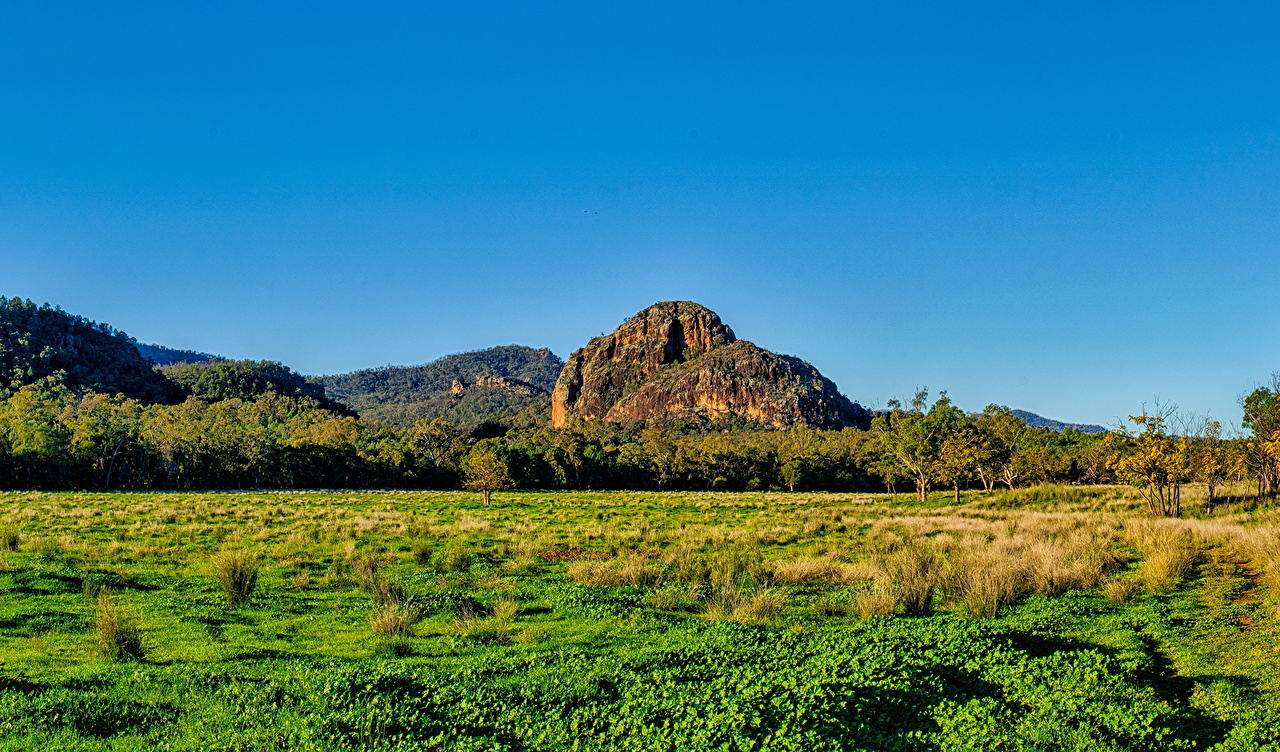 Photo Australia Warrumbungles National Park Nature Mountains Sky Parks Scenery Forests Grass mountain park forest landscape photography