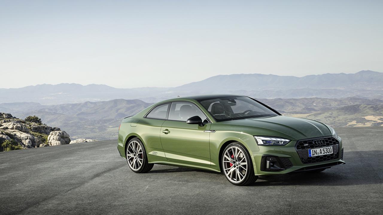 Pictures Audi 2019 A5 40 TFSI quattro S line Worldwide Coupe Green auto Metallic Cars automobile