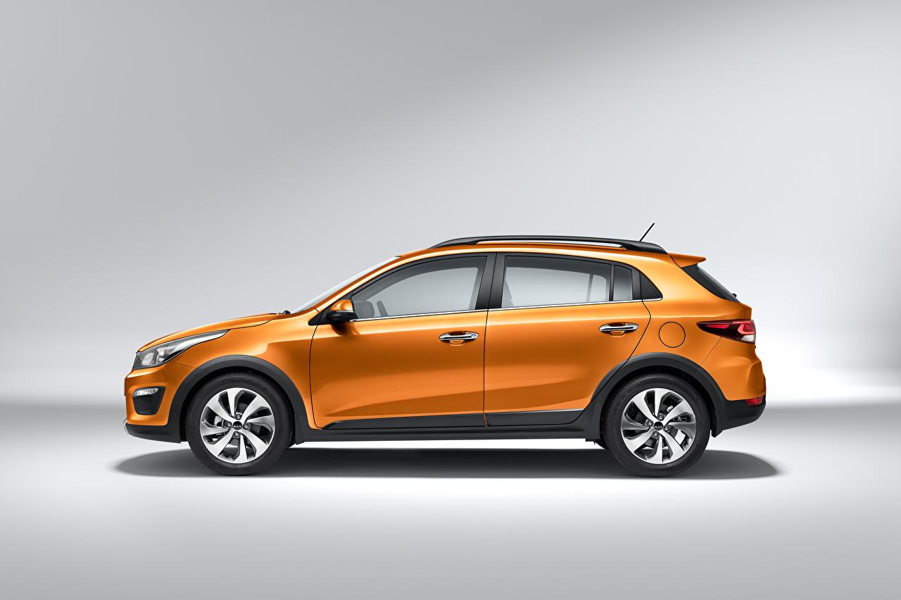 Picture KIA CUV Orange Cars Side Metallic Crossover auto automobile