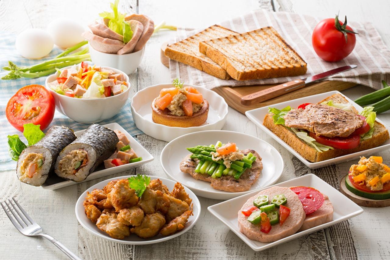 Bilder Frühstück Brot Butterbrot Gemüse das Essen Lebensmittel