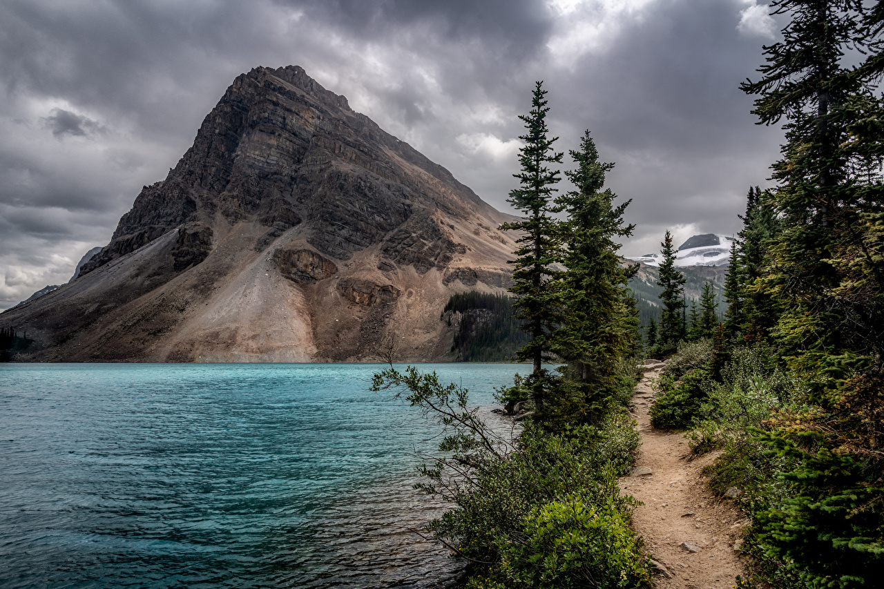 Image Banff Canada Bow Lake Nature mountain park Mountains Parks