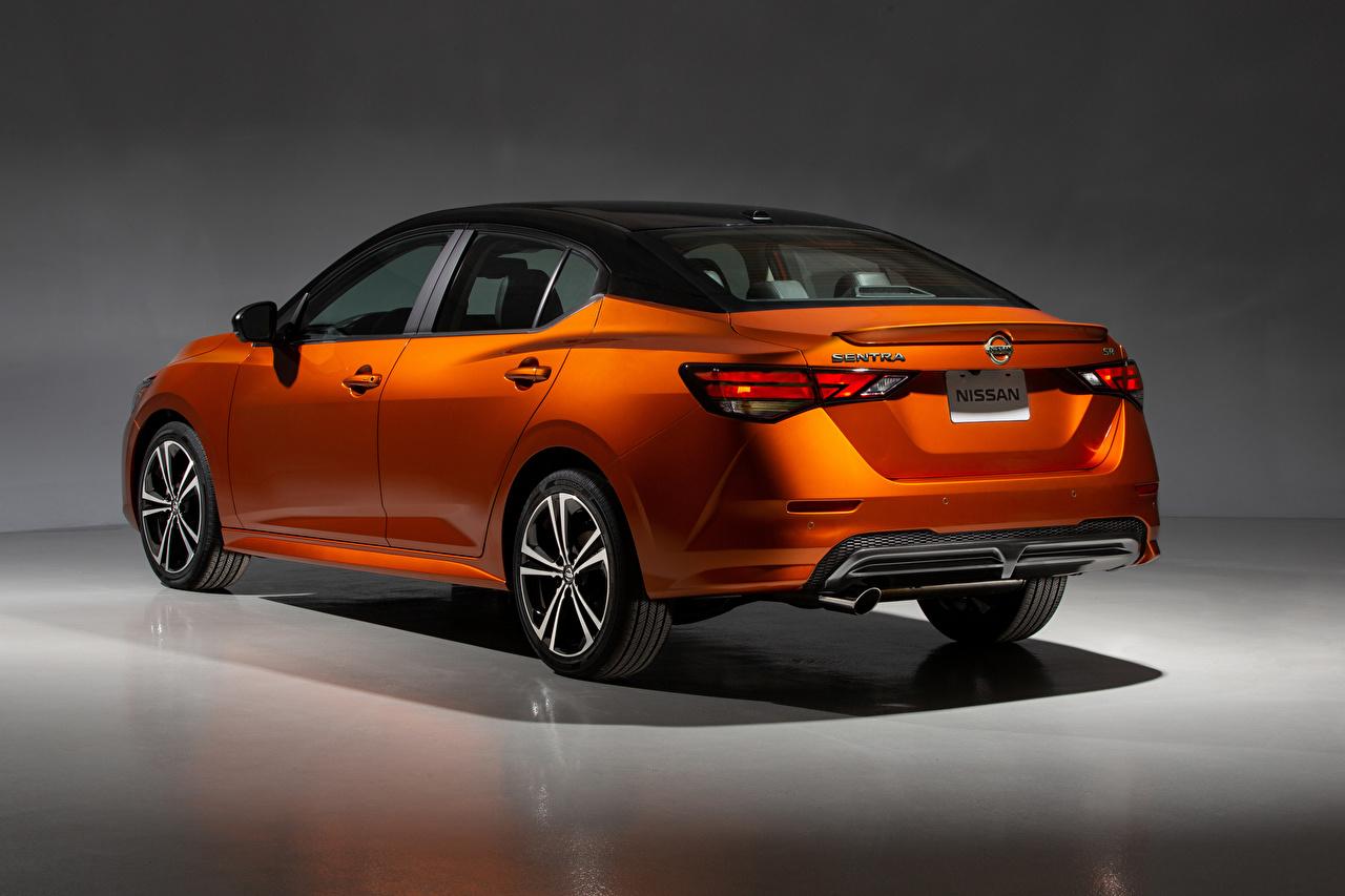 Bilder von Nissan Sentra SR, North America, 2020 Orange Autos Hinten Metallisch auto automobil