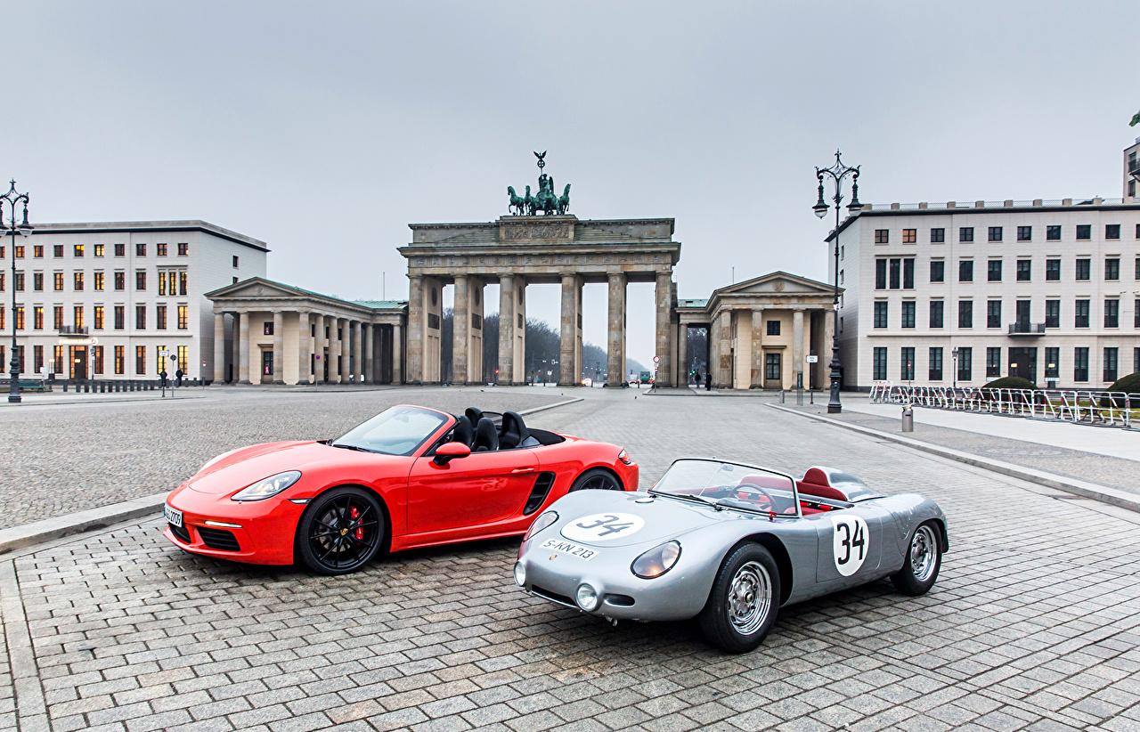 Photos Porsche Cabriolet 2 Cars Convertible Two auto automobile