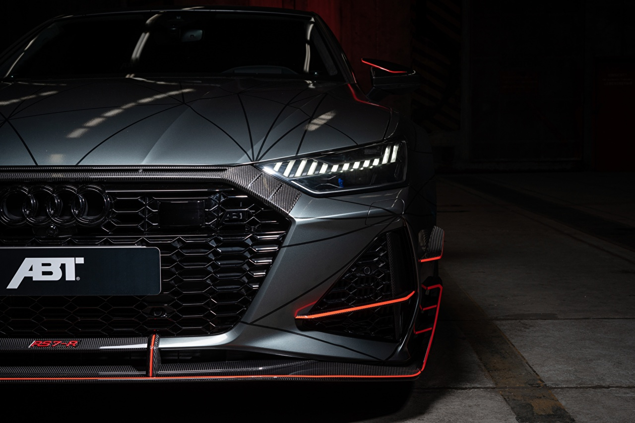 Picture Audi ABT Sportback 2020 RS7-R gray Front Headlights automobile Grey Cars auto