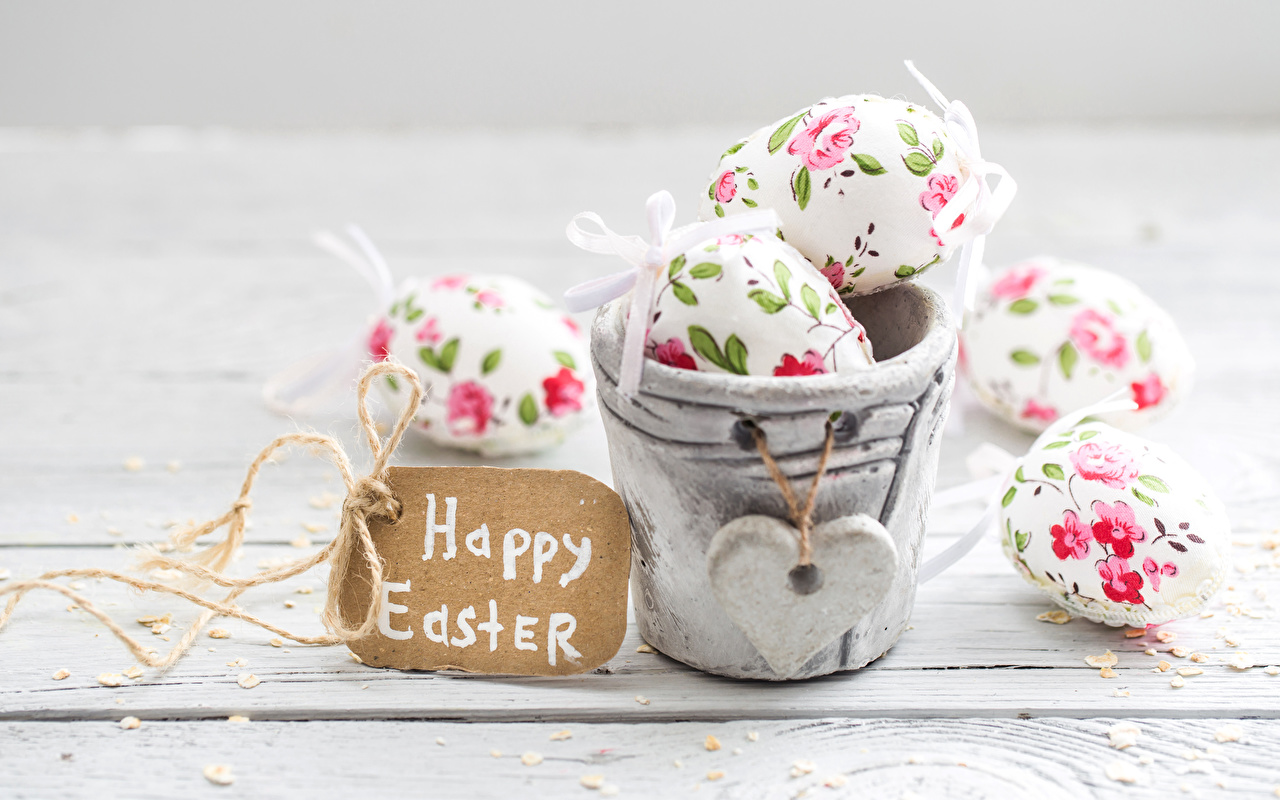 Wallpaper Easter English Heart Eggs Bucket egg